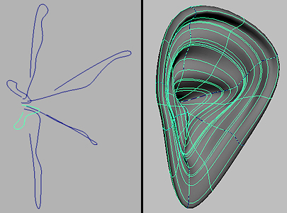 maya how to make a surface with the bezier tool